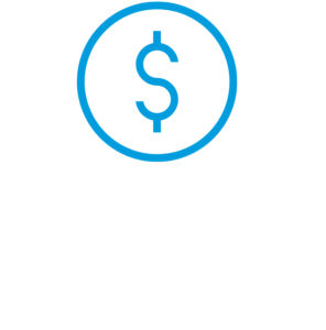 Illustration with a dollar sign and a line chart trending upwards